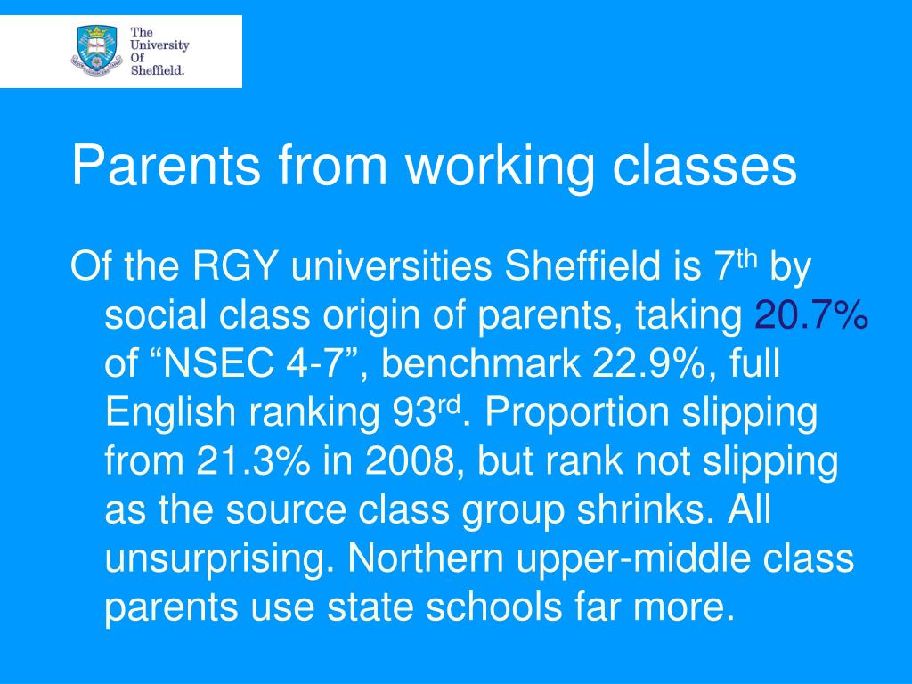 Parents from working classes