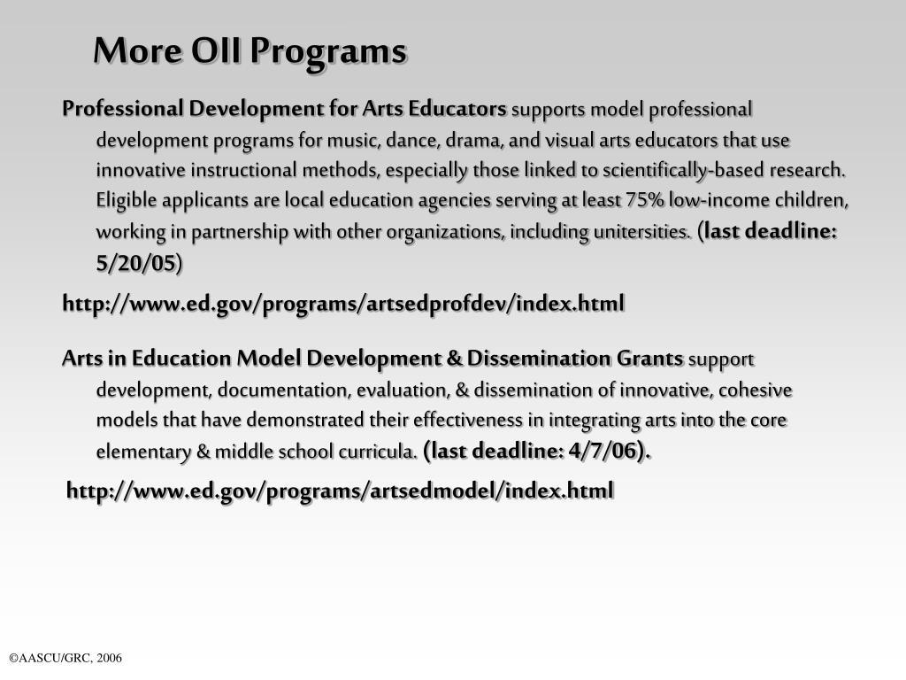 More OII Programs