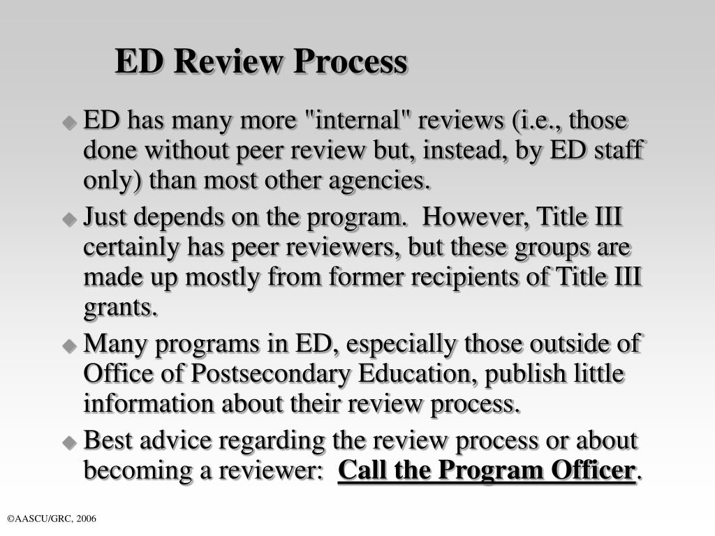 ED Review Process