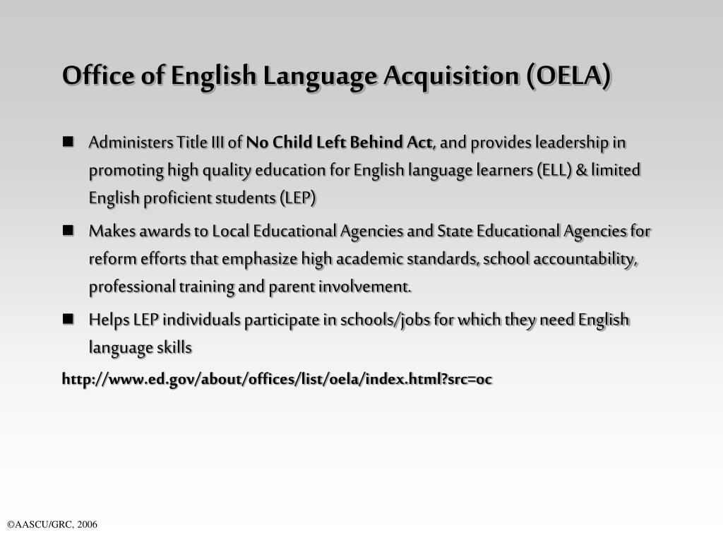 Office of English Language Acquisition (OELA)
