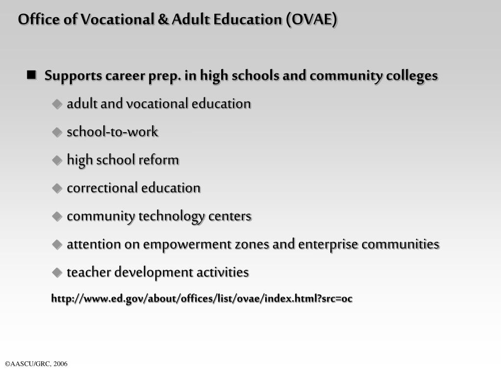 Office of Vocational & Adult Education (OVAE)