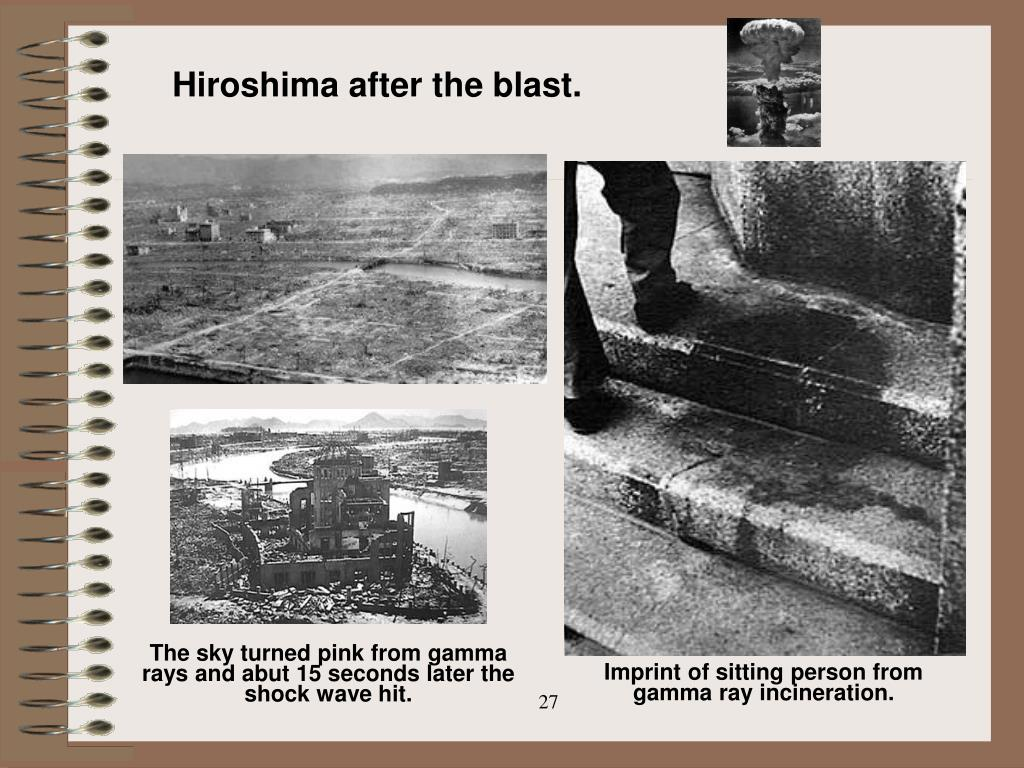 Hiroshima after the blast.