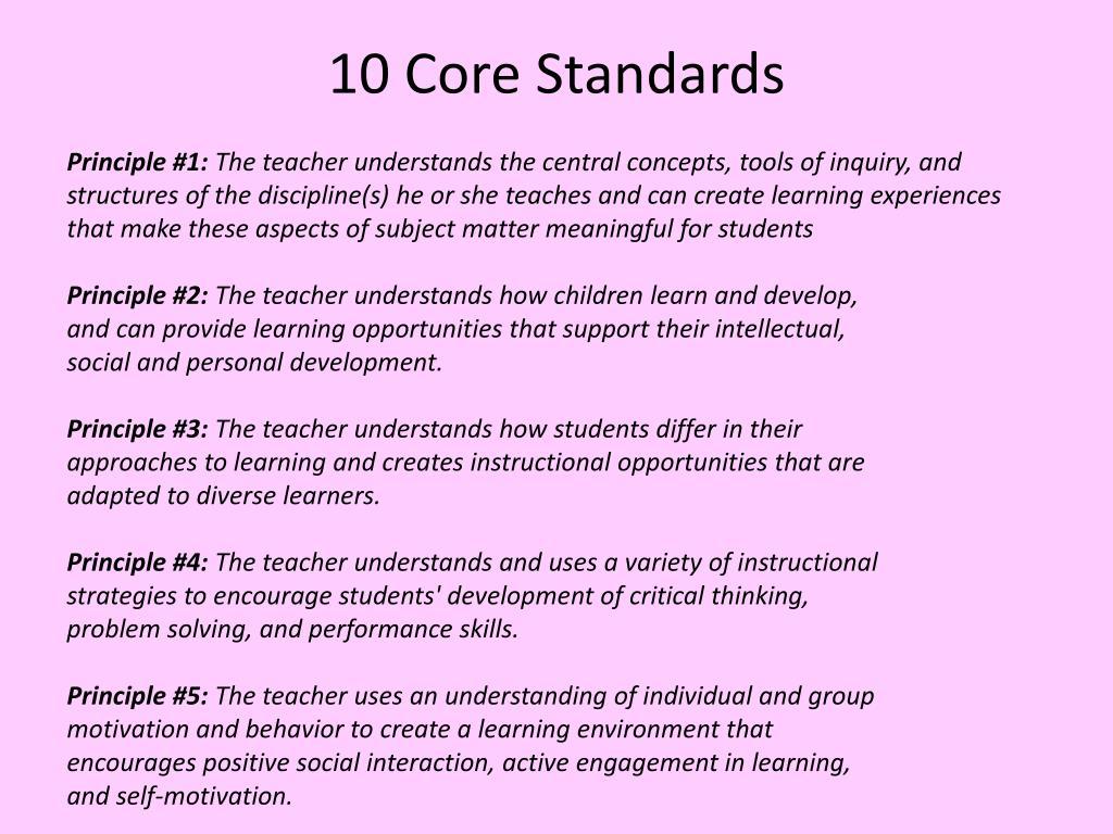 10 Core Standards