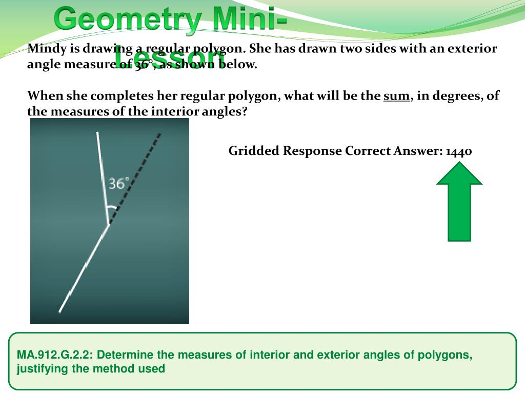 Ppt determine the measures of interior and - What is interior and exterior angles ...