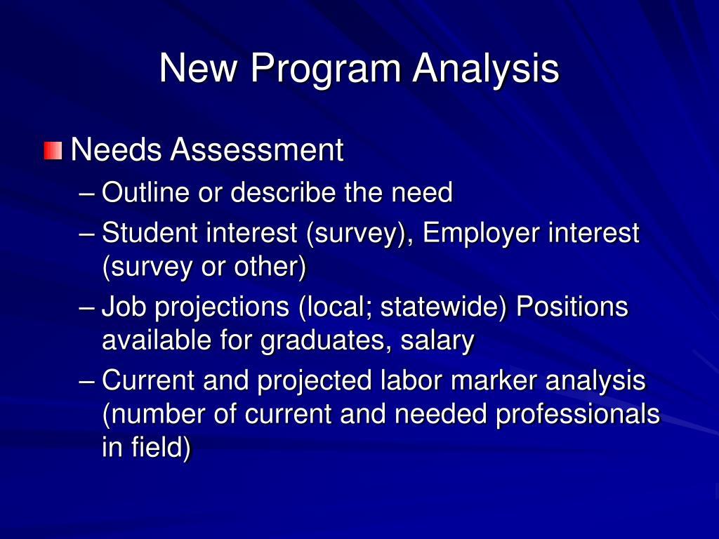 New Program Analysis