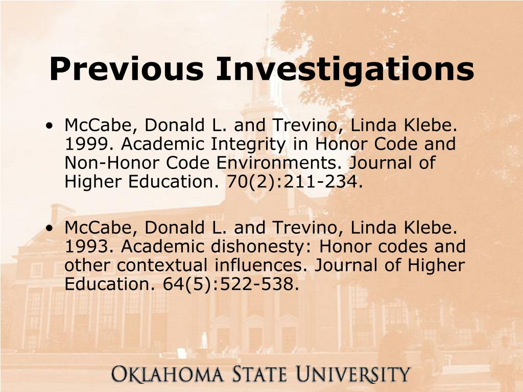 Previous Investigations