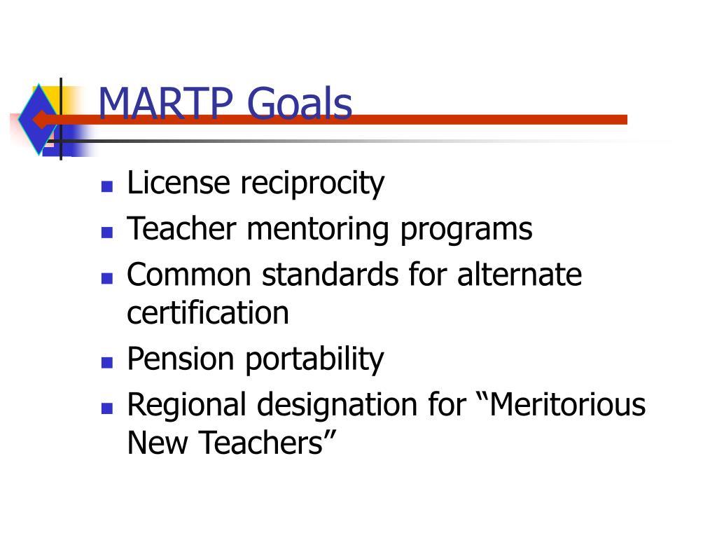 MARTP Goals