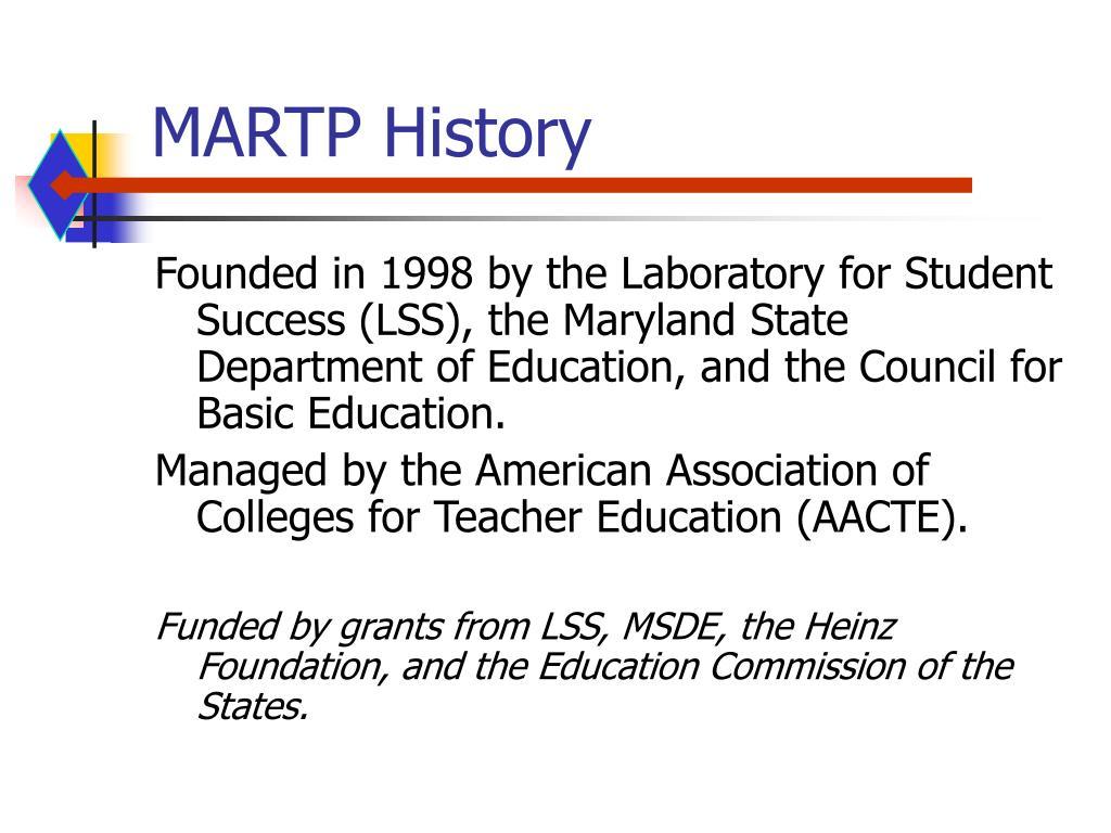 MARTP History