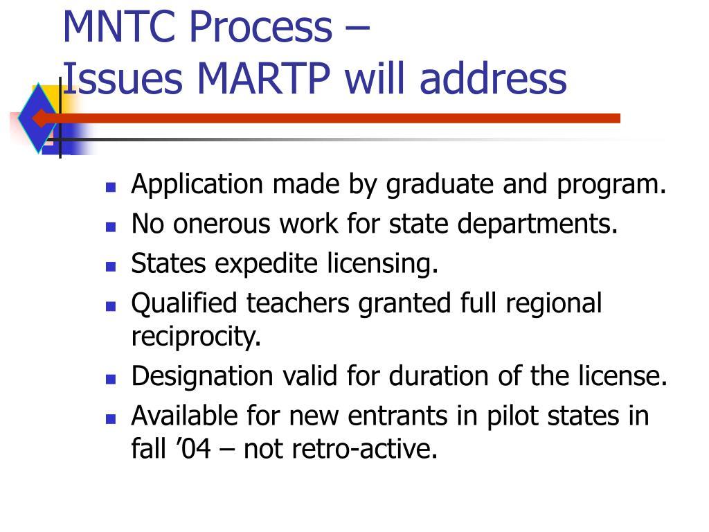 MNTC Process –