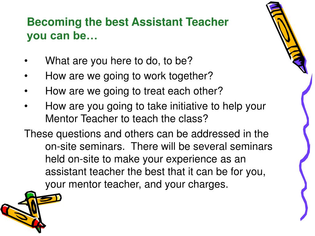 Becoming the best Assistant Teacher