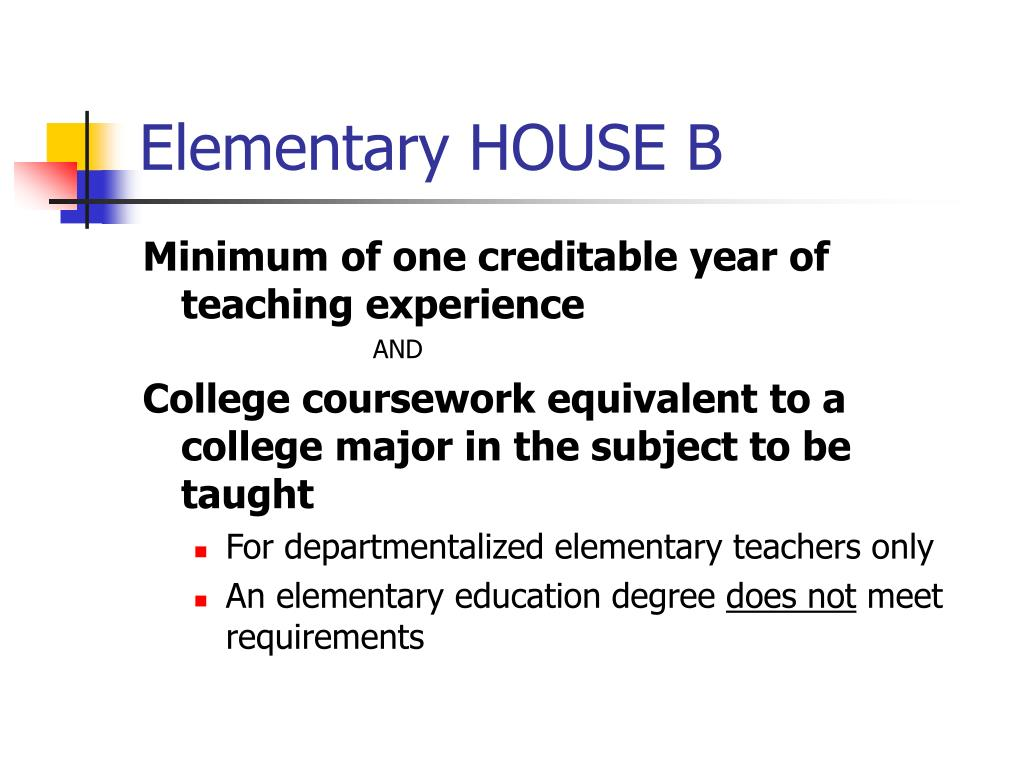 Elementary HOUSE B