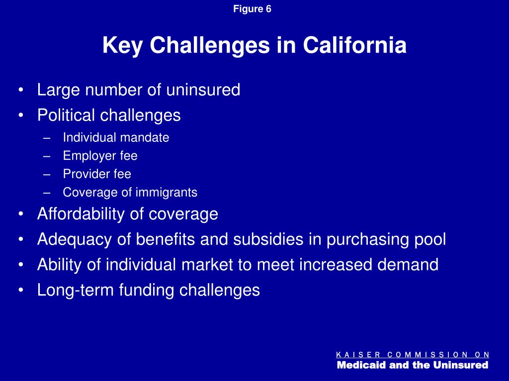 Key Challenges in California