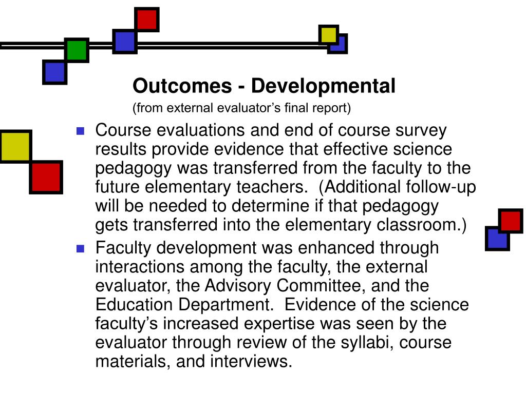 Outcomes - Developmental