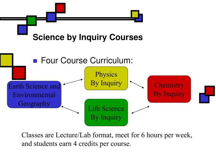 Science by inquiry courses