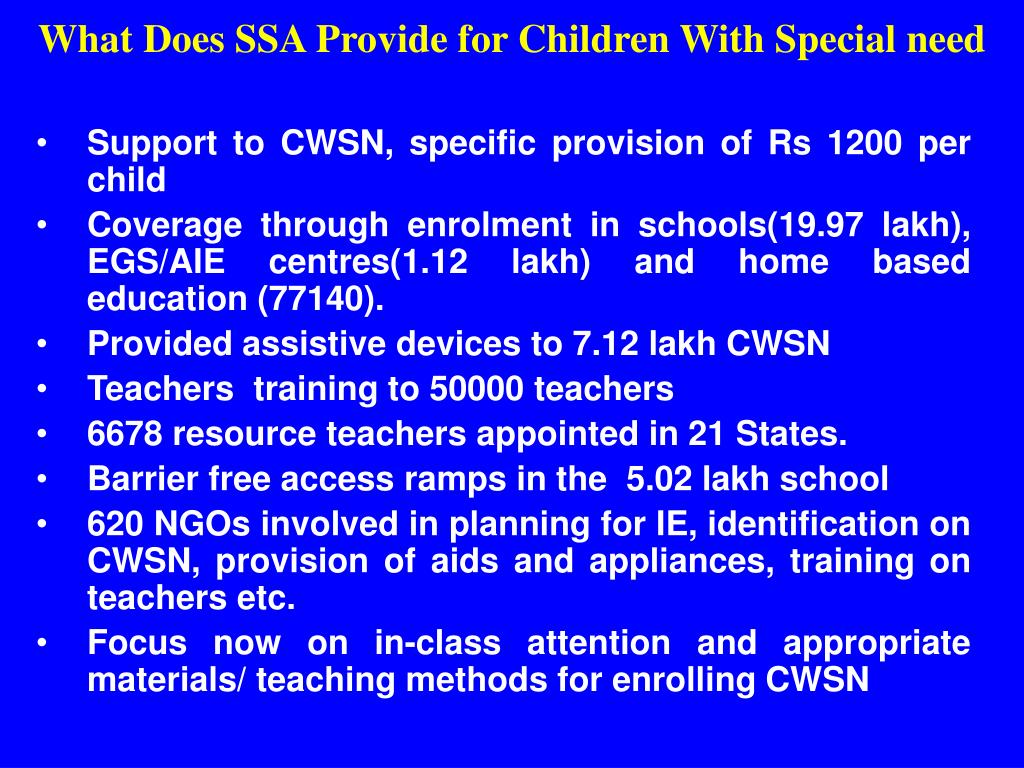 What Does SSA Provide for Children With Special need