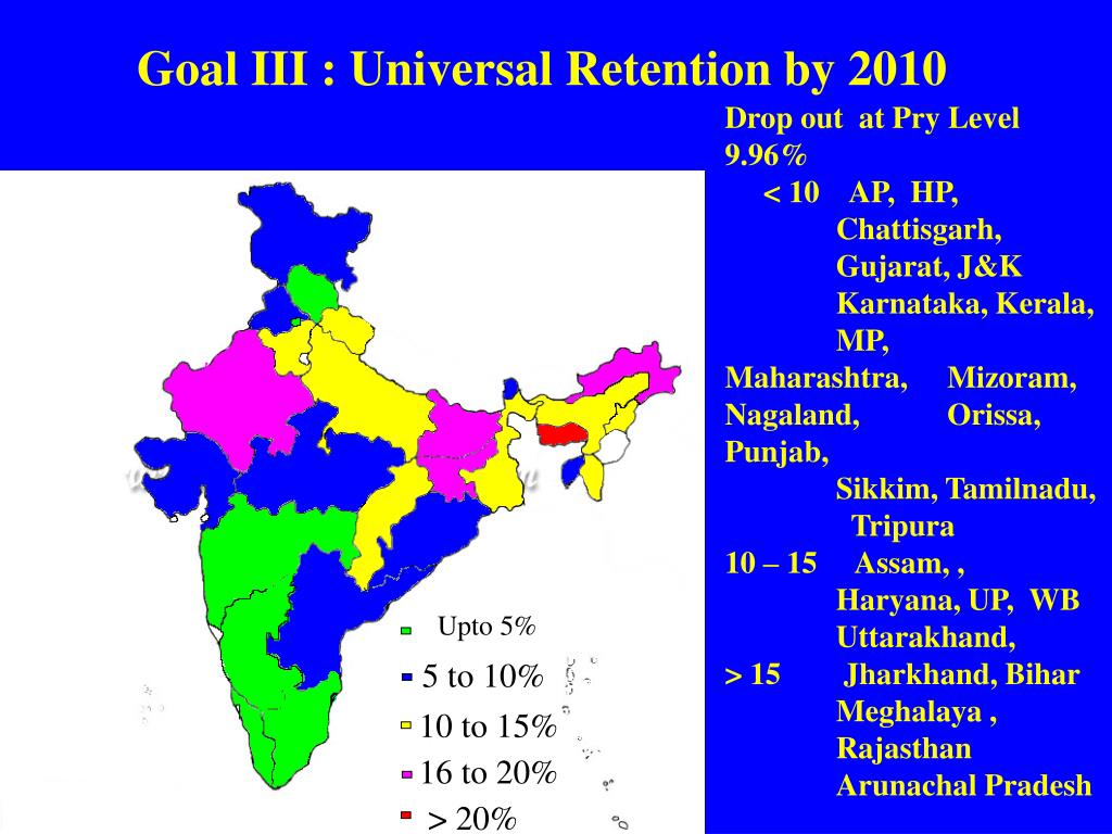 Goal III : Universal Retention by 2010