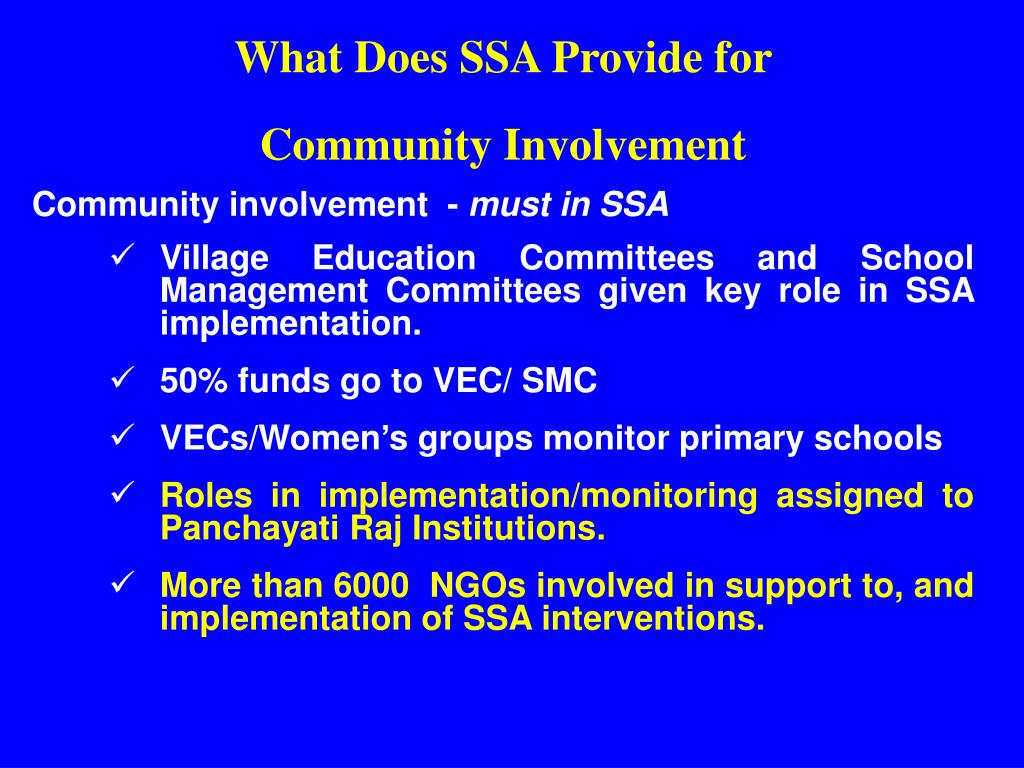 What Does SSA Provide for