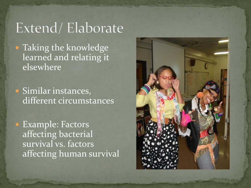 Extend/ Elaborate