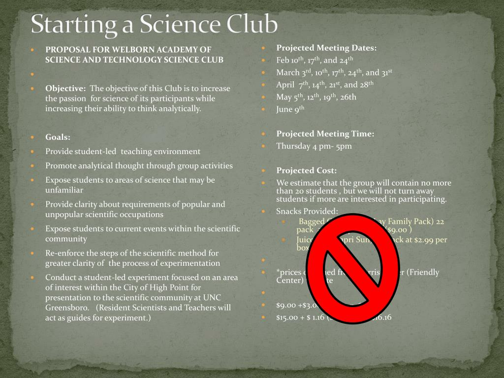 Starting a Science Club