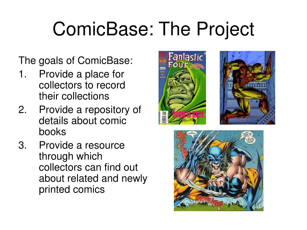ComicBase: The Project