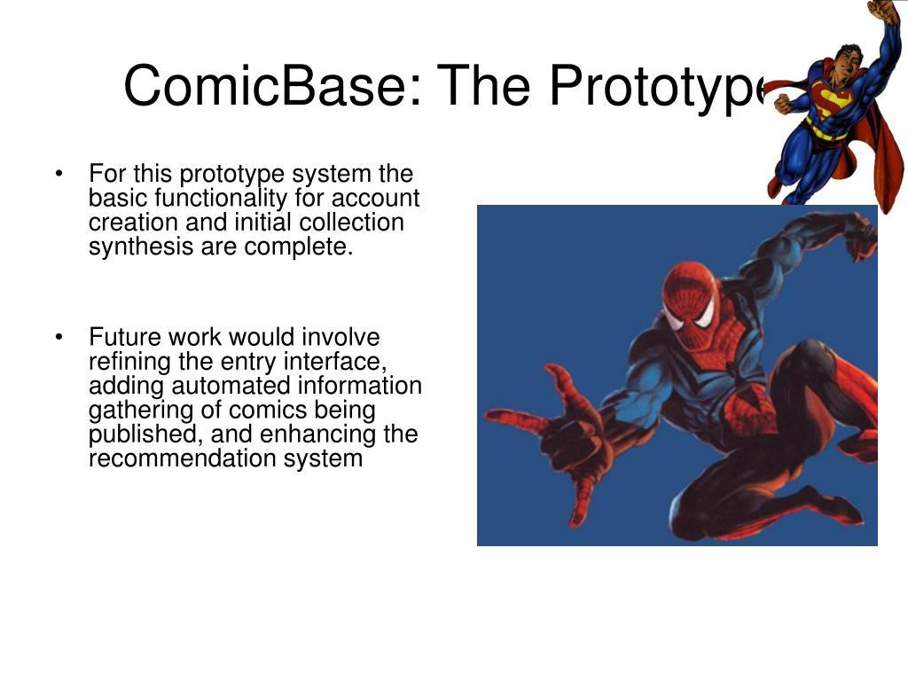 ComicBase: The Prototype