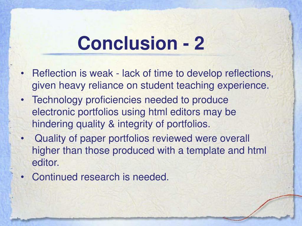 Conclusion - 2