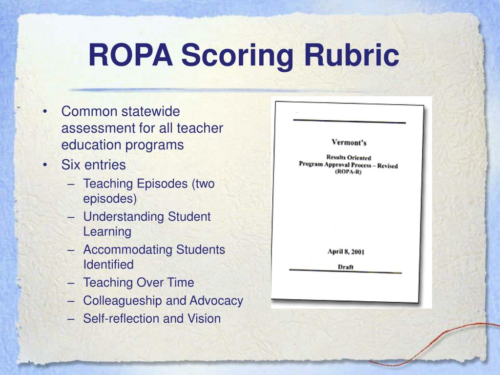 ROPA Scoring Rubric