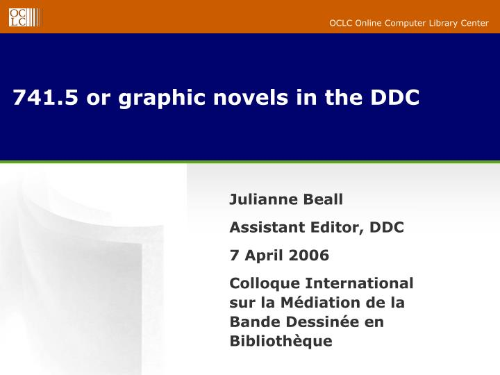 741 5 or graphic novels in the ddc