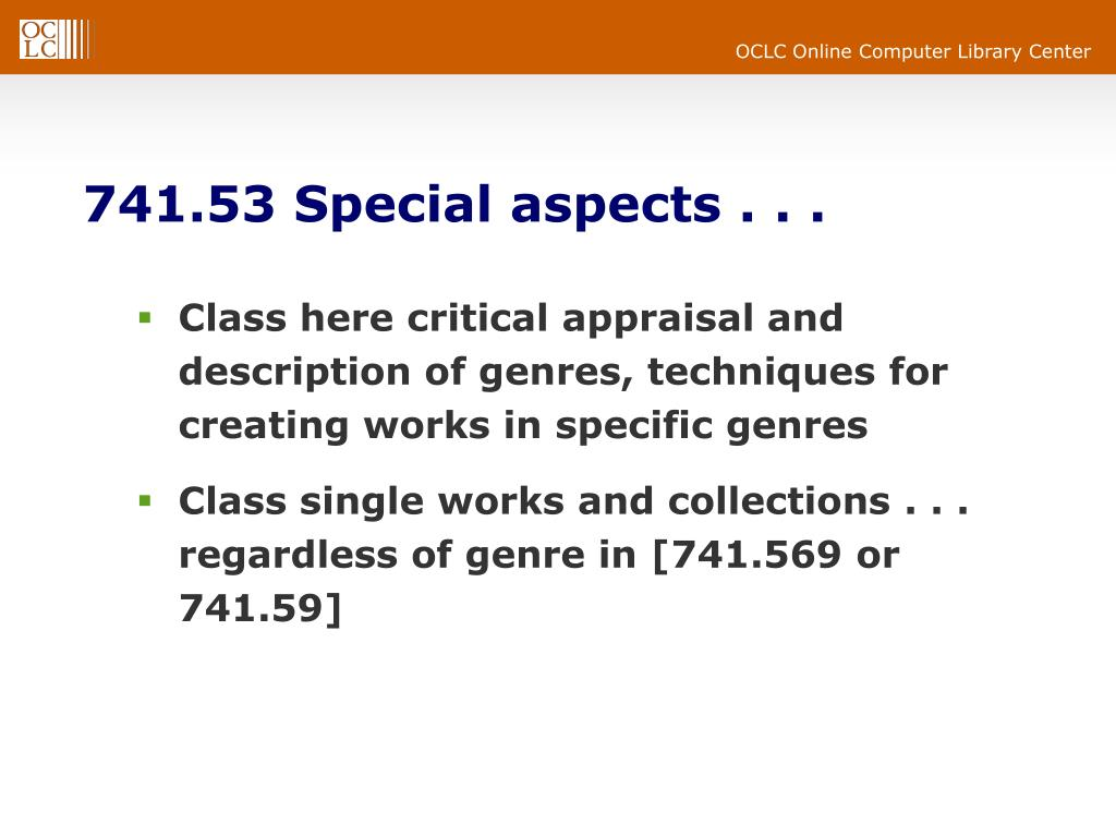 741.53 Special aspects . . .