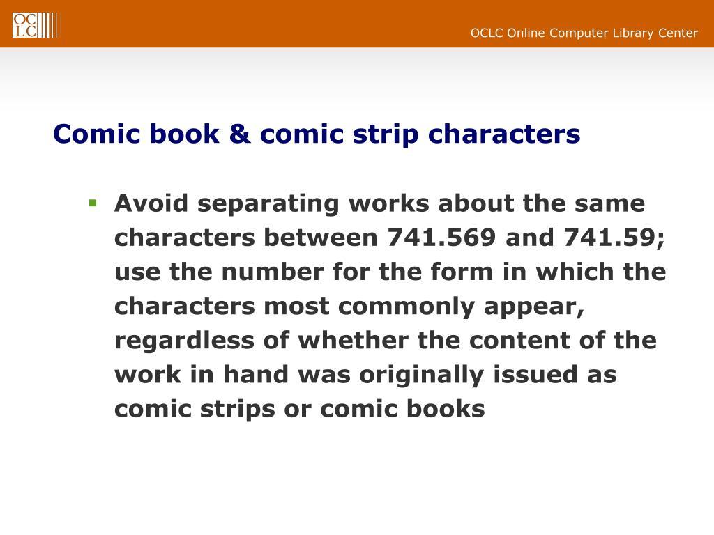 Comic book & comic strip characters