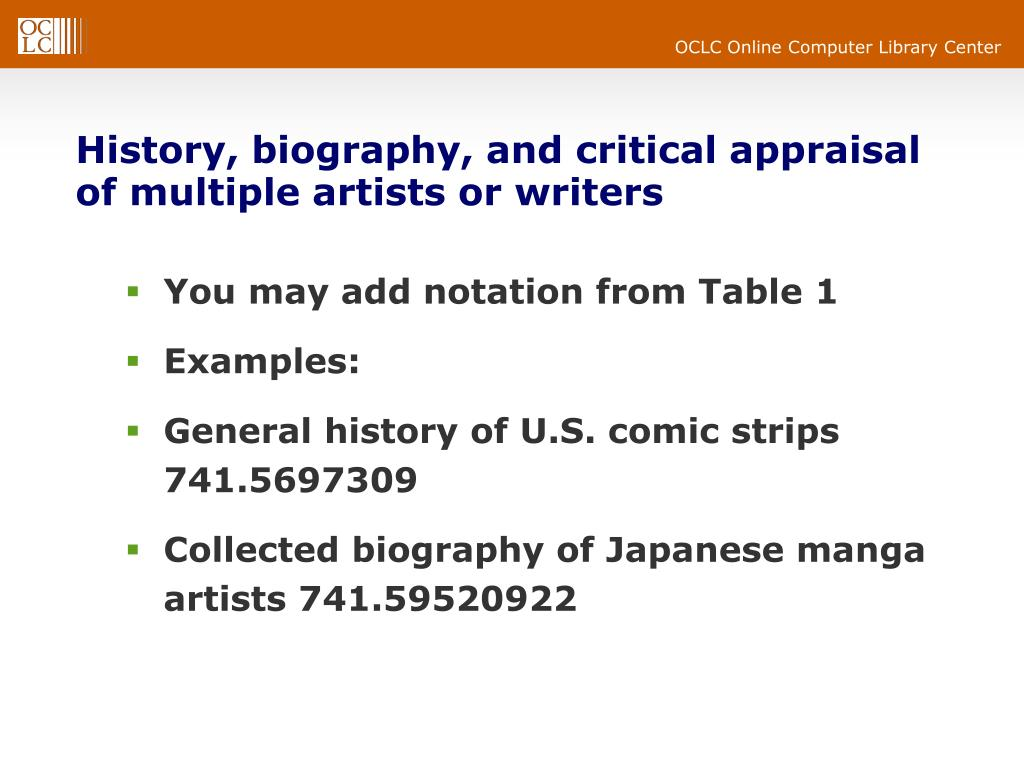 History, biography, and critical appraisal of multiple artists or writers