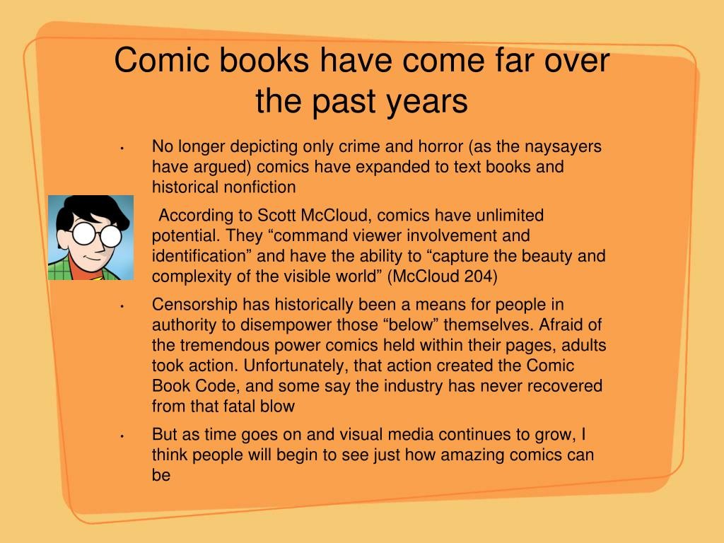 Comic books have come far over the past years