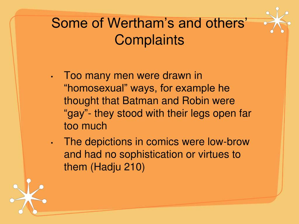 Some of Wertham's and others' Complaints