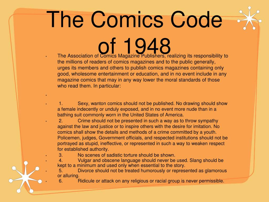 The Comics Code of 1948