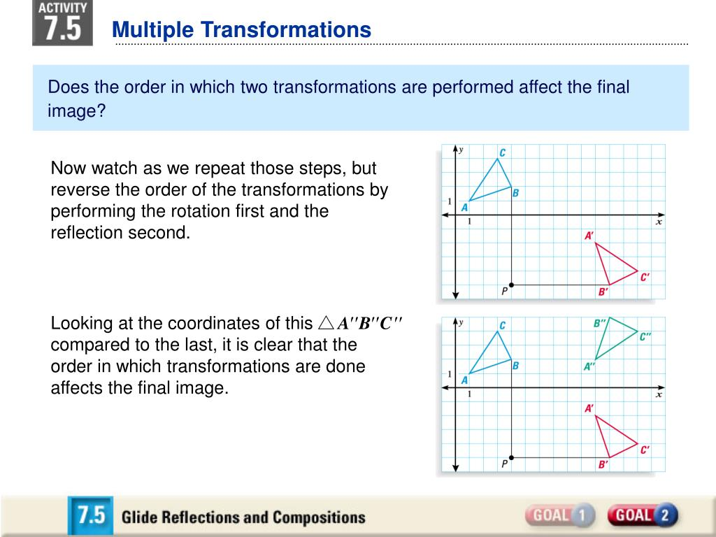 Multiple Transformations