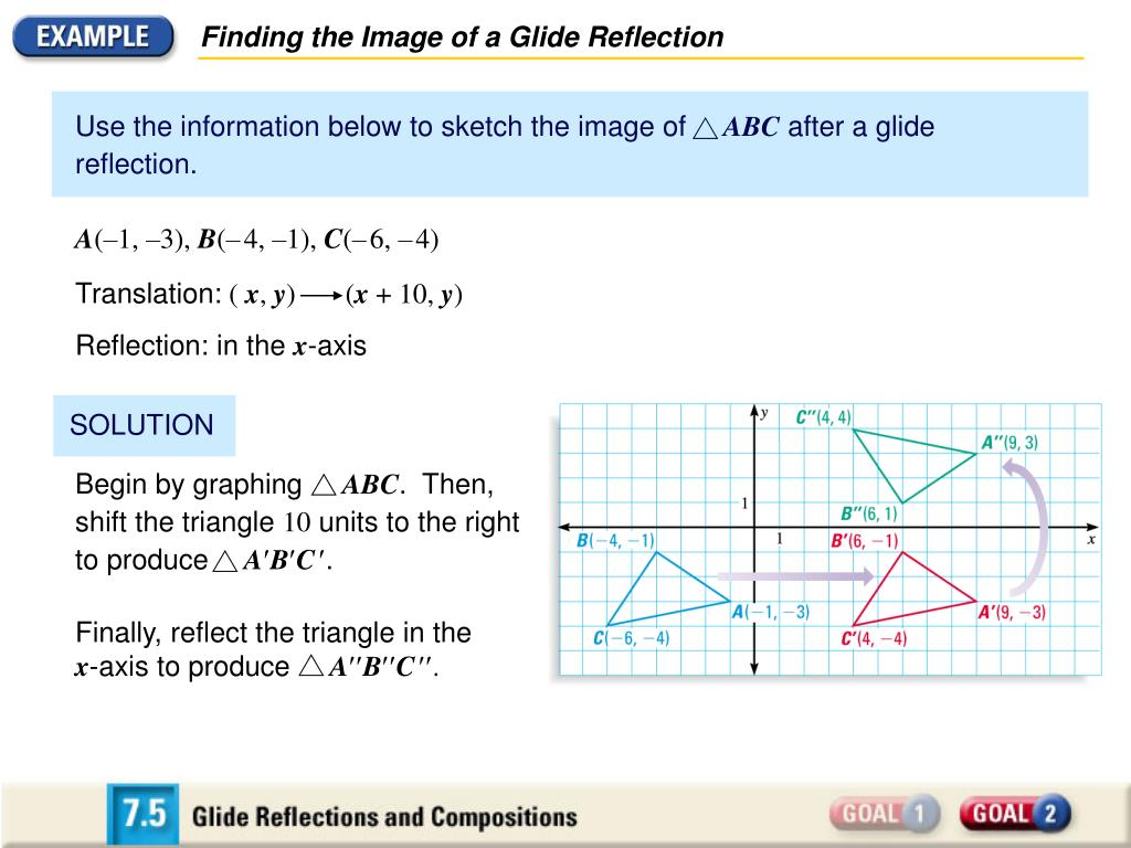 Finding the Image of a Glide Reflection