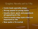 graphic novels sell to yas