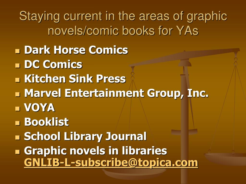 Staying current in the areas of graphic novels/comic books for YAs