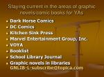 staying current in the areas of graphic novels comic books for yas