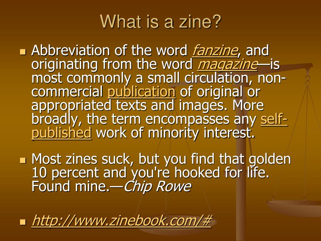 What is a zine?