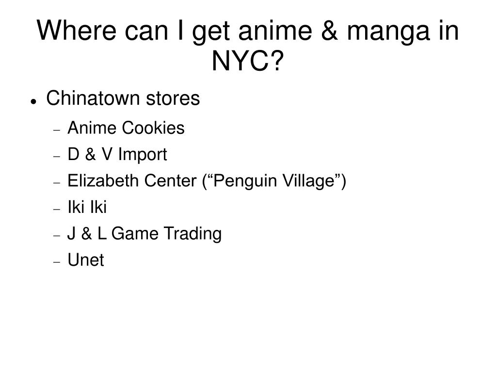 Where can I get anime & manga in NYC?