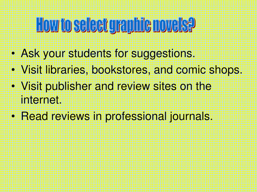 How to select graphic novels?