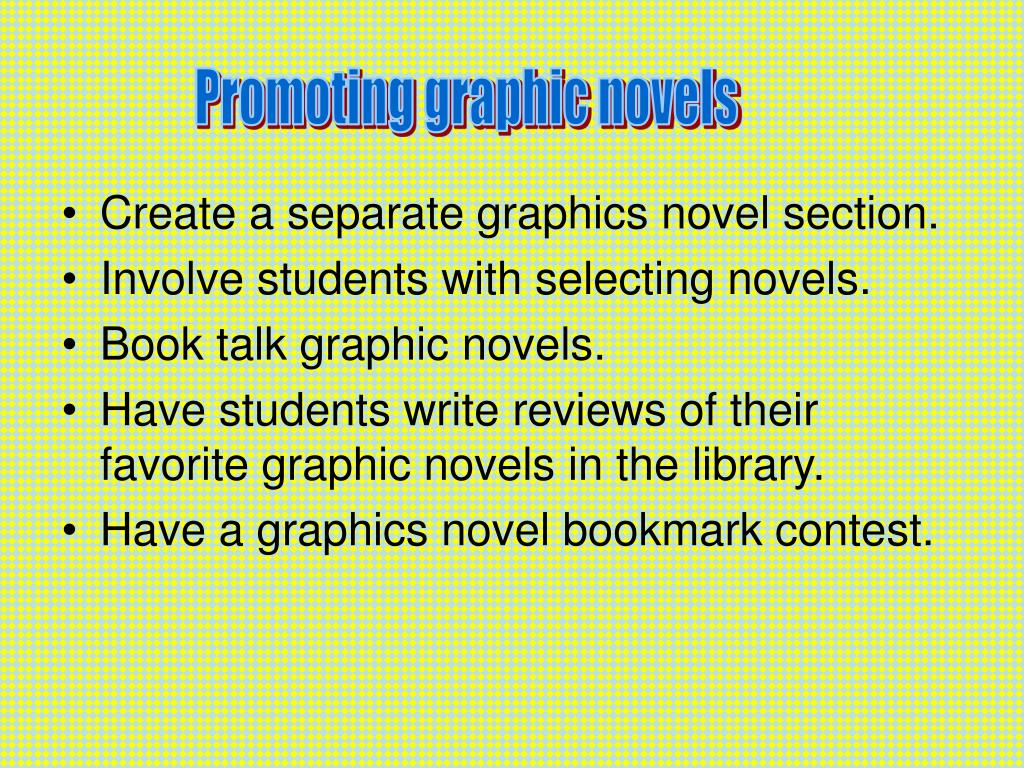 Promoting graphic novels