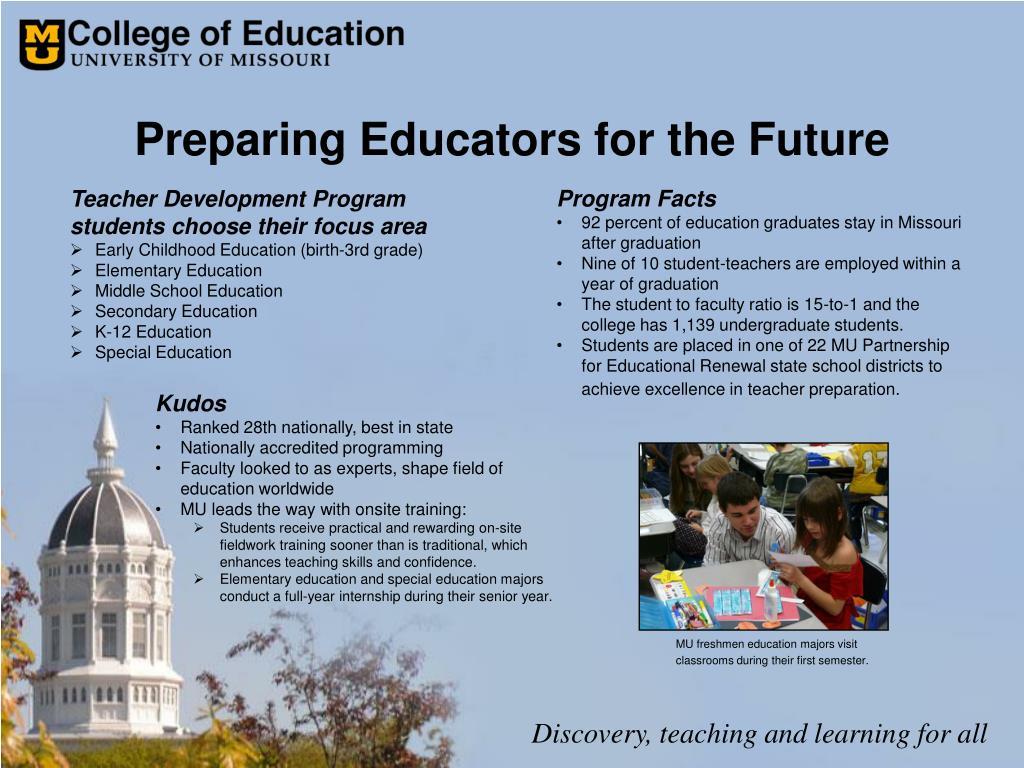 Preparing Educators for the Future