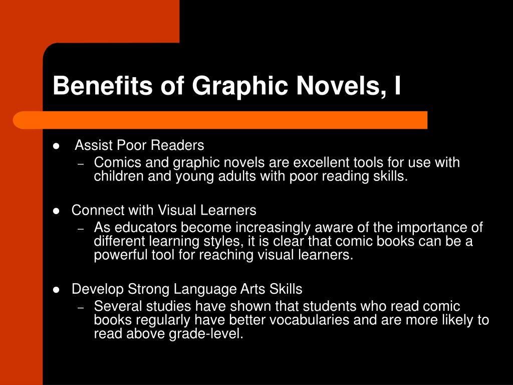 Benefits of Graphic Novels, I