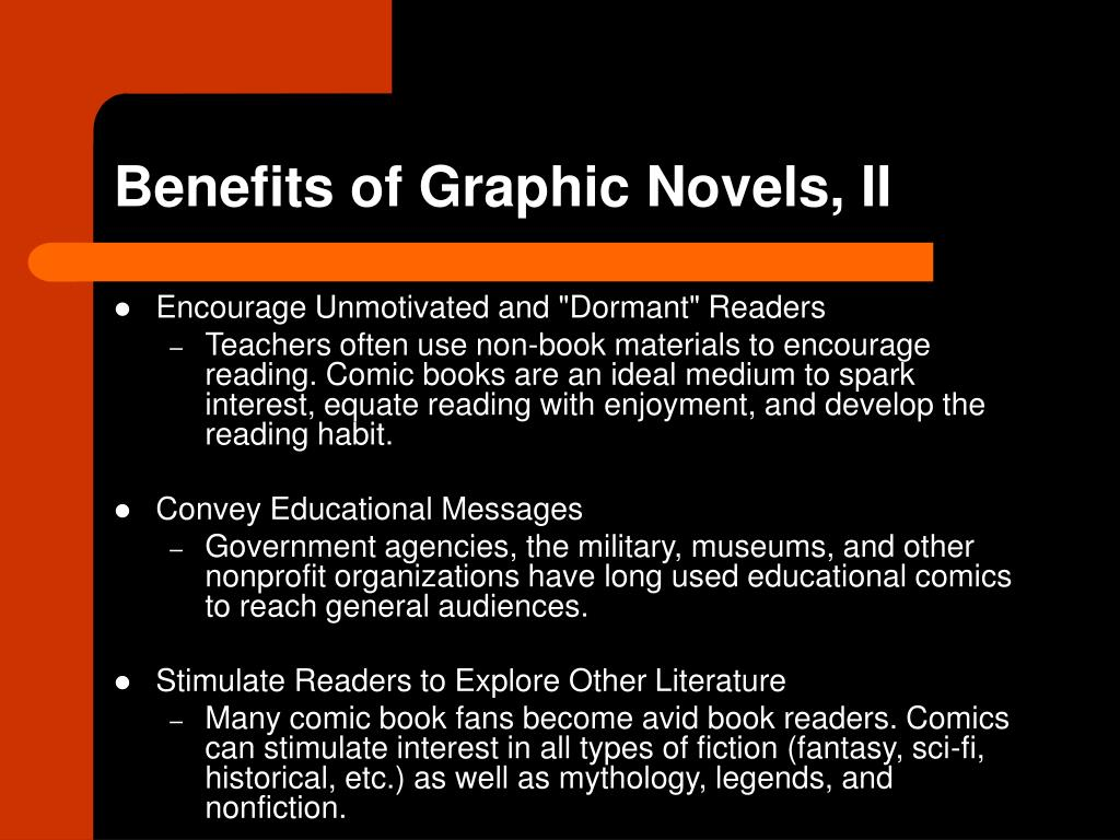 Benefits of Graphic Novels, II