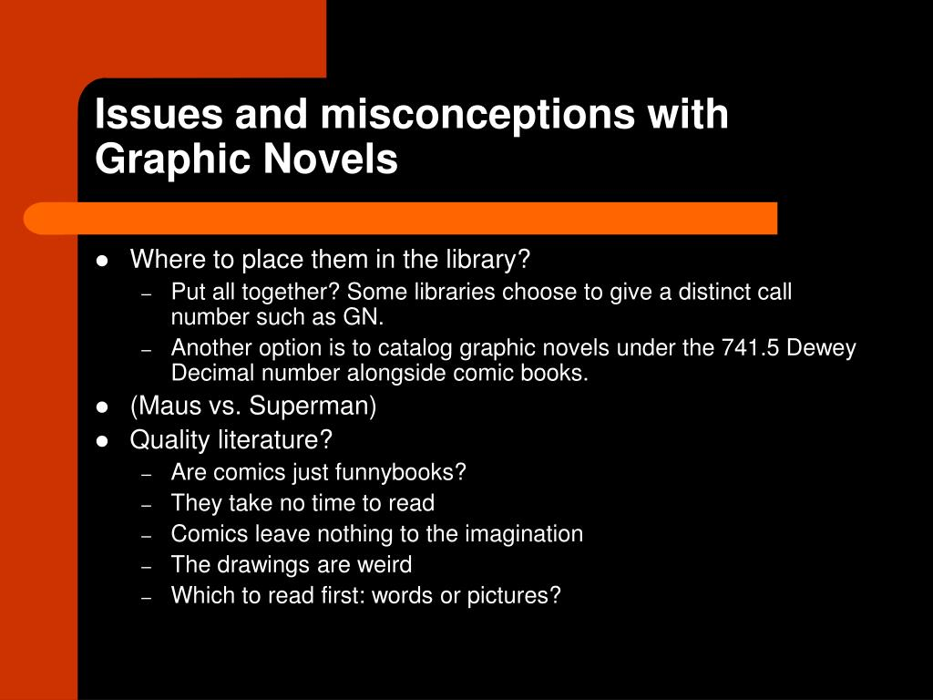 Issues and misconceptions with Graphic Novels