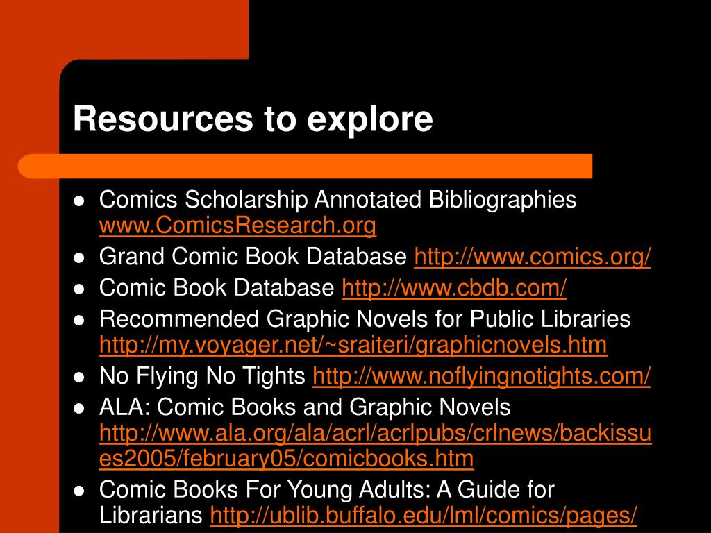 Resources to explore