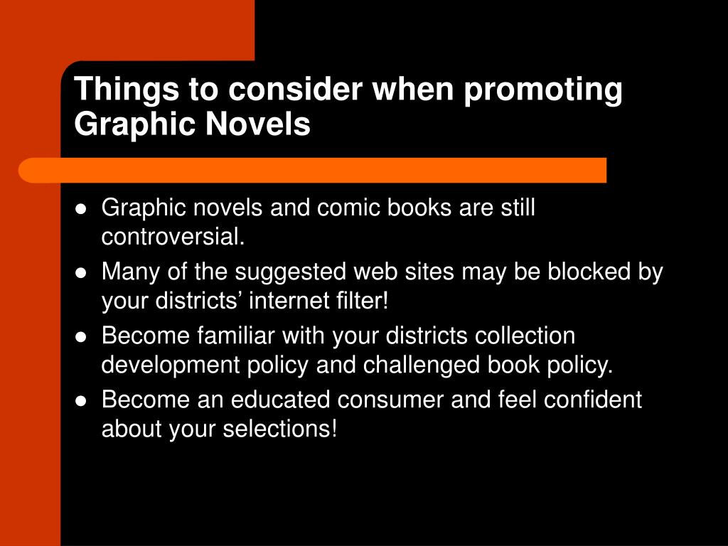 Things to consider when promoting Graphic Novels