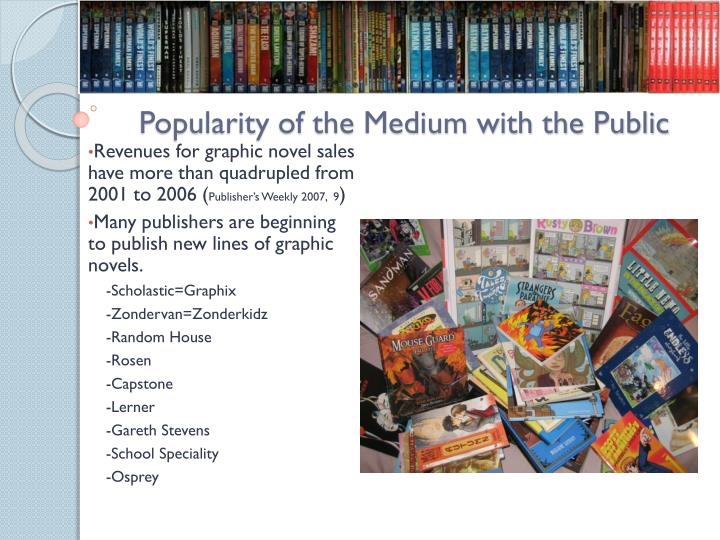 Popularity of the medium with the public